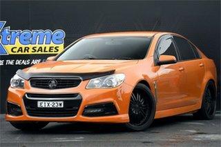 2013 Holden Commodore VF MY14 SV6 Orange 6 Speed Manual Sedan.