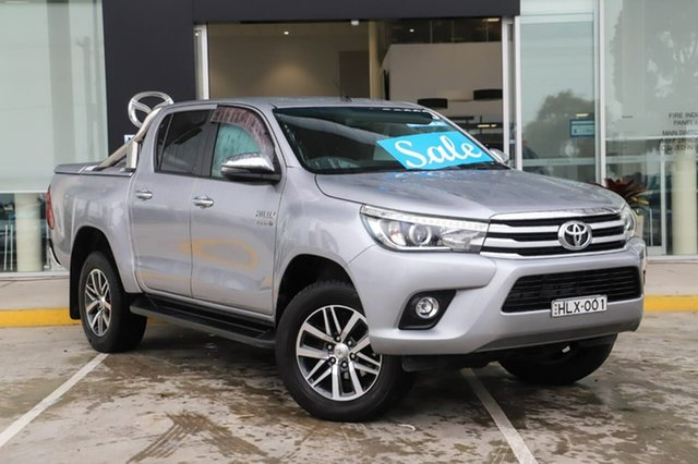 Used Toyota Hilux GUN126R SR5 Double Cab Kirrawee, 2018 Toyota Hilux GUN126R SR5 Double Cab Silver Sky 6 Speed Sports Automatic Utility