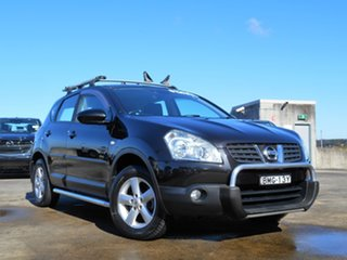 2009 Nissan Dualis J10 MY2009 Ti X-tronic AWD Black 6 Speed Constant Variable Hatchback.