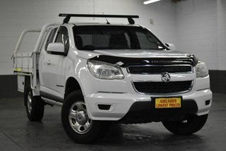 2015 Holden Colorado RG MY15 LS Space Cab White 6 Speed Manual Cab Chassis.