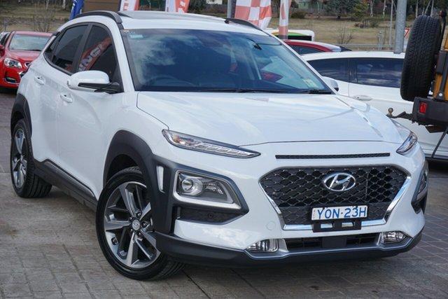 Used Hyundai Kona OS.3 MY20 Highlander 2WD Phillip, 2020 Hyundai Kona OS.3 MY20 Highlander 2WD Chalk White 6 Speed Sports Automatic Wagon