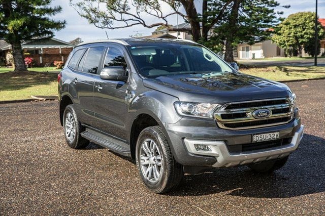 Used Ford Everest UA 2018.00MY Trend Port Macquarie, 2017 Ford Everest UA 2018.00MY Trend Meteor Grey 6 Speed Sports Automatic SUV