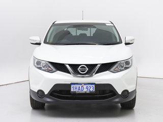 2014 Nissan Qashqai J11 ST White Continuous Variable Wagon.