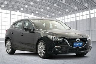 2014 Mazda 3 BM5438 SP25 SKYACTIV-Drive Black 6 Speed Sports Automatic Hatchback.