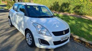 2015 Suzuki Swift FZ MY14 GL Navigator Pearl White 4 Speed Automatic Hatchback.