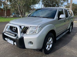 2013 Nissan Navara D40 Series 5 ST-X Silver Sports Automatic Utility.