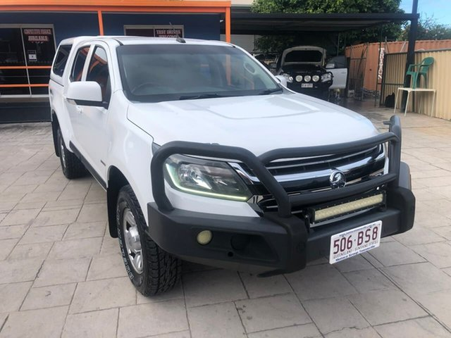 Used Holden Colorado RG MY17 LS Pickup Crew Cab Mundingburra, 2016 Holden Colorado RG MY17 LS Pickup Crew Cab White 6 Speed Manual Utility