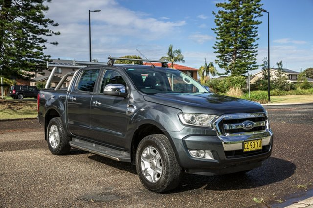 Used Ford Ranger PX MkII XLT Double Cab Port Macquarie, 2015 Ford Ranger PX MkII XLT Double Cab Grey 6 Speed Sports Automatic Utility