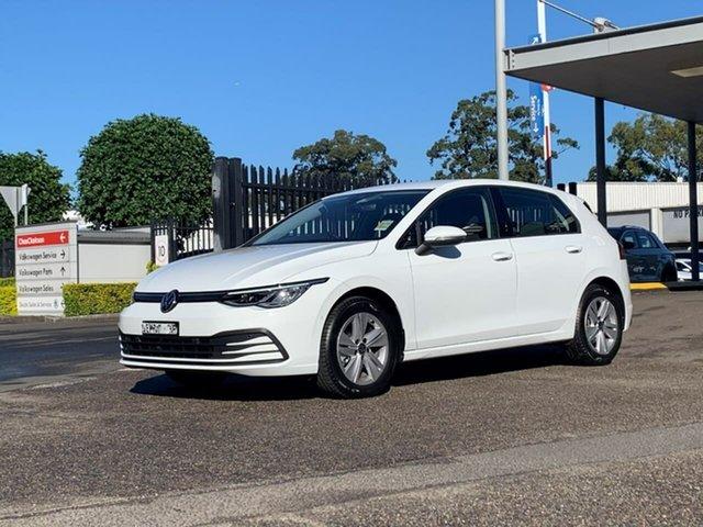 Demo Volkswagen Golf 8 MY21 110TSI Botany, 2021 Volkswagen Golf 8 MY21 110TSI White 8 Speed Sports Automatic Hatchback