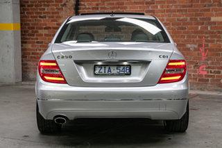 2012 Mercedes-Benz C-Class W204 MY12 C250 CDI BlueEFFICIENCY 7G-Tronic + Avantgarde Iridium Silver