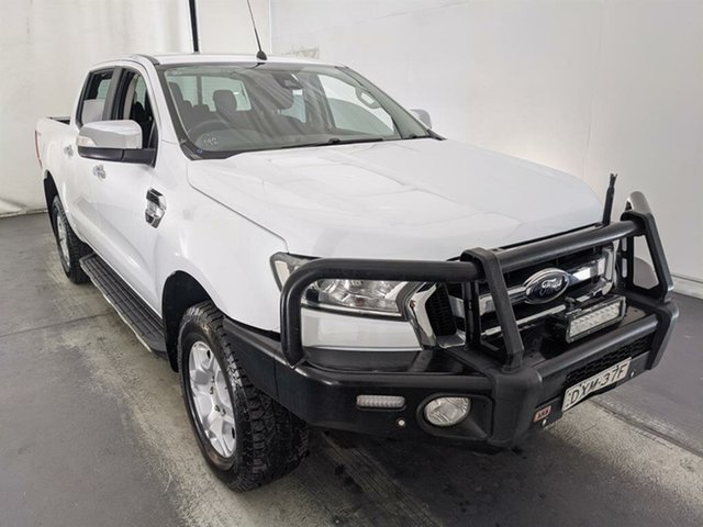 Used Ford Ranger PX MkII 2018.00MY XLT Double Cab 4x2 Hi-Rider Maryville, 2018 Ford Ranger PX MkII 2018.00MY XLT Double Cab 4x2 Hi-Rider White 6 Speed Sports Automatic