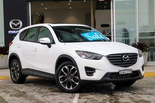 2015 Mazda CX-5 KE1022 Grand Touring SKYACTIV-Drive AWD White 6 Speed Sports Automatic Wagon.