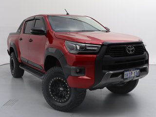 2020 Toyota Hilux GUN126R MY19 Upgrade Rogue (4x4) Red 6 Speed Automatic Double Cab Pick Up.