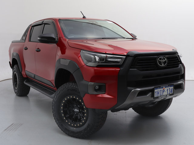 Used Toyota Hilux GUN126R MY19 Upgrade Rogue (4x4), 2020 Toyota Hilux GUN126R MY19 Upgrade Rogue (4x4) Red 6 Speed Automatic Double Cab Pick Up
