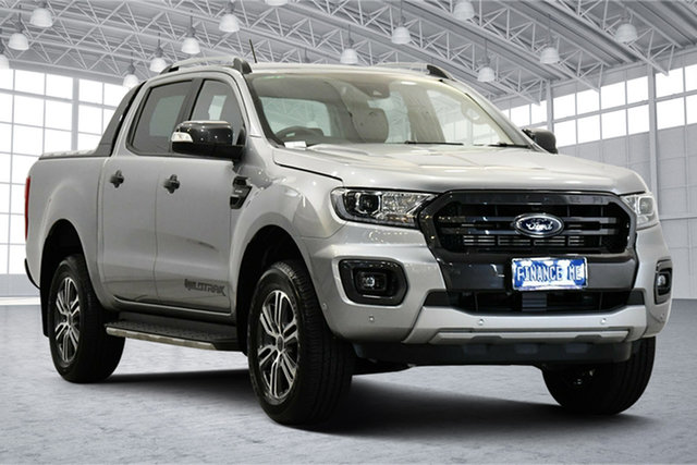 Used Ford Ranger PX MkIII 2020.75MY Wildtrak Victoria Park, 2020 Ford Ranger PX MkIII 2020.75MY Wildtrak Silver 10 Speed Sports Automatic Double Cab Pick Up