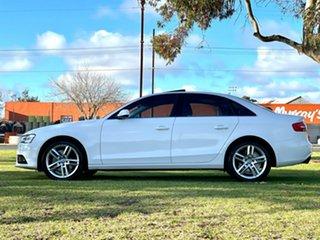 2013 Audi A4 B8 8K MY14 S Tronic Quattro White 7 Speed Sports Automatic Dual Clutch Sedan