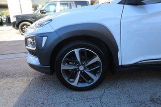 2017 Hyundai Kona OS MY18 Highlander 2WD White 6 Speed Sports Automatic Wagon.