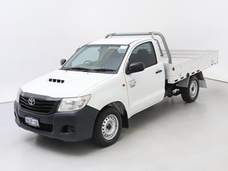 2015 Toyota Hilux KUN16R MY14 Workmate White 5 Speed Manual Cab Chassis