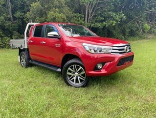 2016 Toyota Hilux GUN126R SR5 (4x4) Olympia Red 6 Speed Automatic Dual Cab Utility.