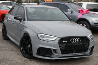 2018 Audi RS 3 8V MY18 Sportback S Tronic Quattro Grey 7 Speed Sports Automatic Dual Clutch.