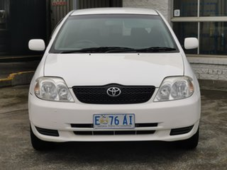 2001 Toyota Corolla ZZE122R Ascent White 4 Speed Automatic Hatchback