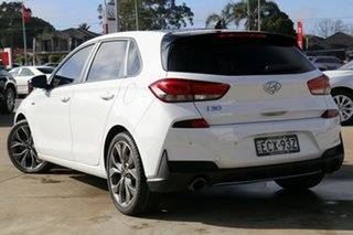 2019 Hyundai i30 PD.3 MY20 N Line Premium White 7 Speed Auto Dual Clutch Hatchback.