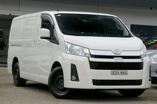 2019 Toyota HiAce GDH300R LWB White 6 Speed Sports Automatic Van.