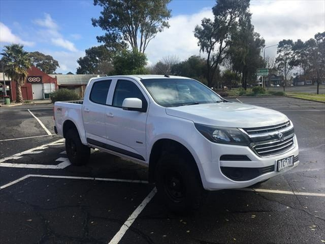 Used Holden Colorado RG MY18 LS Pickup Crew Cab Yarrawonga, 2017 Holden Colorado RG MY18 LS Pickup Crew Cab White 6 Speed Sports Automatic Utility