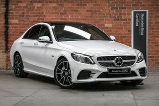 2020 Mercedes-Benz C-Class W205 801MY C300 9G-Tronic e Polar White 9 Speed Sports Automatic Sedan.