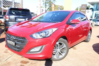 2016 Hyundai i30 GD4 Series 2 Active X Red 6 Speed Automatic Hatchback.