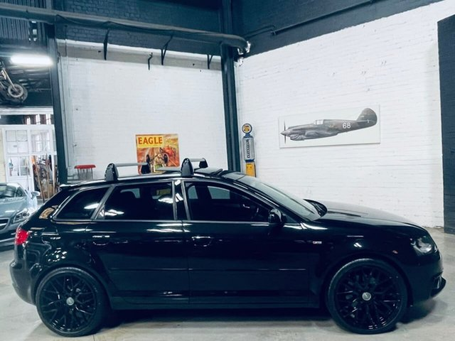 Used Audi A3 8P MY13 Ambition Sportback S Tronic Quattro Port Melbourne, 2012 Audi A3 8P MY13 Ambition Sportback S Tronic Quattro Black 6 Speed Sports Automatic Dual Clutch