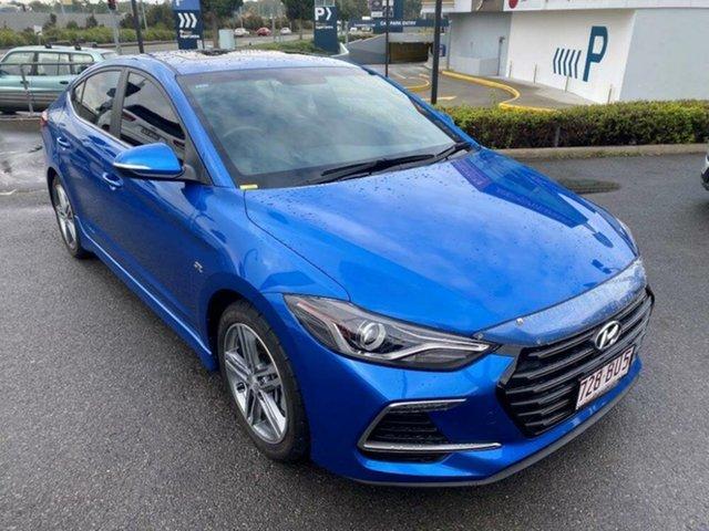 Used Hyundai Elantra AD MY17 SR DCT Turbo Springwood, 2017 Hyundai Elantra AD MY17 SR DCT Turbo Blue 7 Speed Sports Automatic Dual Clutch Sedan