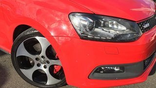 2012 Volkswagen Polo 6R MY13 GTI DSG Red 7 Speed Sports Automatic Dual Clutch Hatchback.