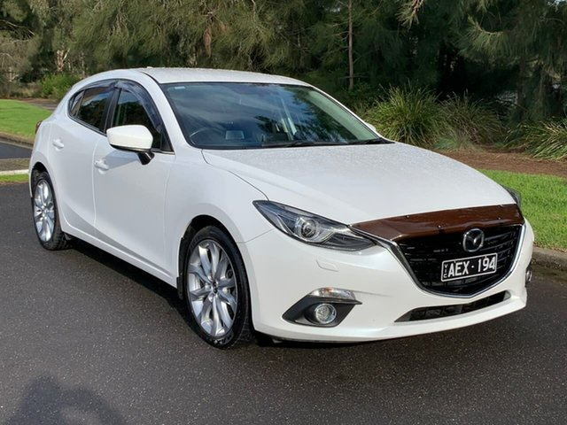 Used Mazda 3 SP25 GT Geelong, 2015 Mazda 3 BM Series SP25 GT White Sports Automatic Hatchback