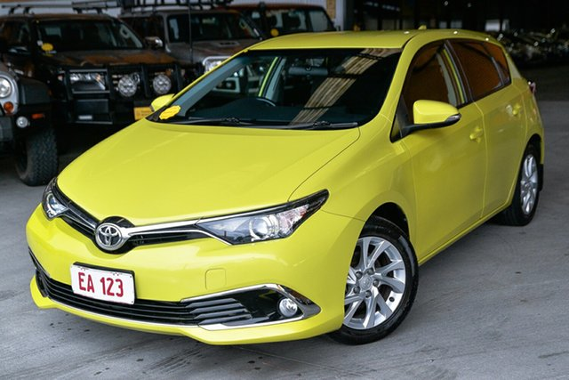 Used Toyota Corolla ZRE182R Ascent Sport S-CVT Hendra, 2016 Toyota Corolla ZRE182R Ascent Sport S-CVT Green 7 Speed Constant Variable Hatchback