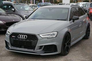 2018 Audi RS 3 8V MY18 Sportback S Tronic Quattro Grey 7 Speed Sports Automatic Dual Clutch