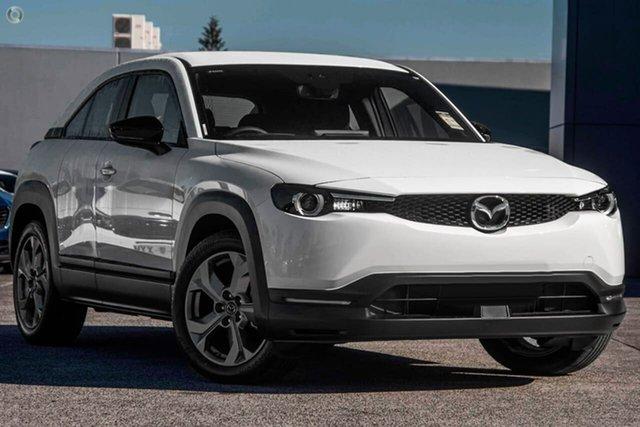 New Mazda MX-30 DR2W7A G20e SKYACTIV-Drive Evolve Waitara, 2021 Mazda MX-30 DR2W7A G20e SKYACTIV-Drive Evolve White 6 Speed Sports Automatic Wagon