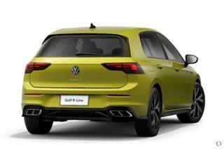 2021 Volkswagen Golf 8 MY21 110TSI R-Line Yellow 8 Speed Sports Automatic Hatchback.