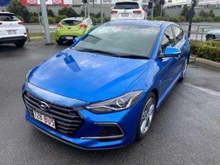 2017 Hyundai Elantra AD MY17 SR DCT Turbo Blue 7 Speed Sports Automatic Dual Clutch Sedan.