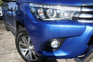 2015 Toyota Hilux GUN126R SR5 Double Cab Nebula Blue 6 Speed Manual Utility.