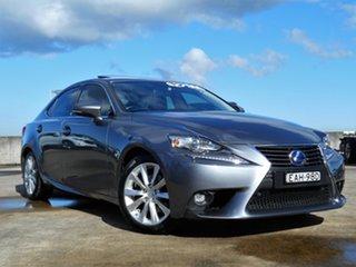 2014 Lexus IS AVE30R IS300h Luxury Grey 1 Speed Constant Variable Sedan Hybrid.