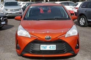 2018 Toyota Yaris NCP130R Ascent Orange 4 Speed Automatic Hatchback.