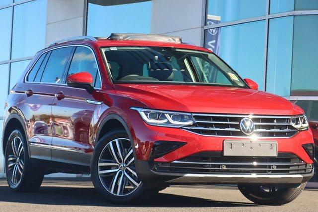 Demo Volkswagen Tiguan 5N MY21 147TDI Elegance DSG 4MOTION Brookvale, 2021 Volkswagen Tiguan 5N MY21 147TDI Elegance DSG 4MOTION Kings Red Metallic 7 Speed