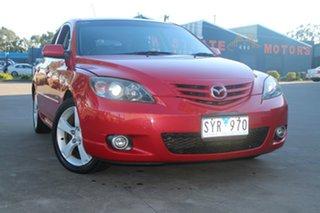 2004 Mazda 3 BK SP23 Red 5 Speed Manual Hatchback.