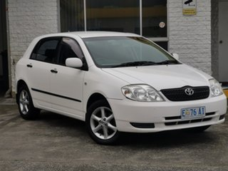 2001 Toyota Corolla ZZE122R Ascent White 4 Speed Automatic Hatchback.