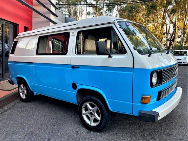 Used Volkswagen Transporter T3 Window Ashmore, 1989 Volkswagen Transporter T3 Window Blue & Cream 5 Speed Manual Van