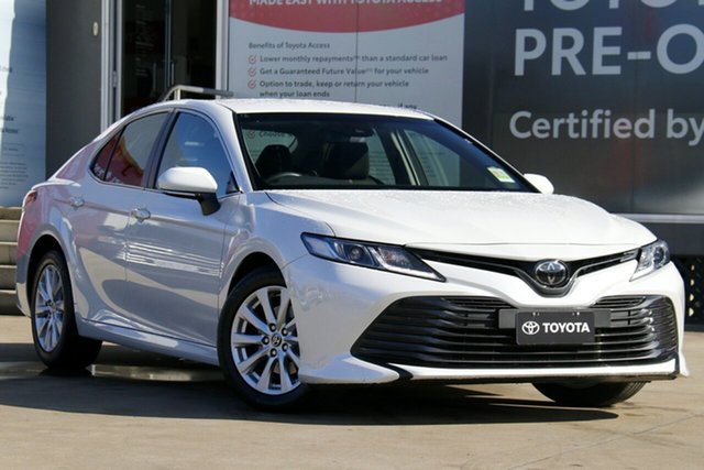 Pre-Owned Toyota Camry ASV70R Ascent Guildford, 2020 Toyota Camry ASV70R Ascent Frosted White 6 Speed Automatic Sedan