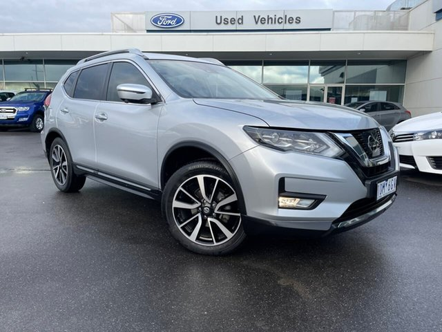Used Nissan X-Trail T32 Series II Ti X-tronic 4WD Essendon Fields, 2018 Nissan X-Trail T32 Series II Ti X-tronic 4WD Silver 7 Speed Constant Variable Wagon