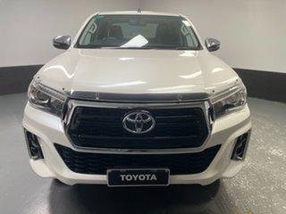 2018 Toyota Hilux GUN126R SR5 Double Cab White 6 Speed Sports Automatic Utility.