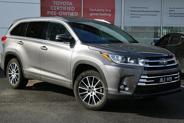 Pre-Owned Toyota Kluger GSU50R Grande 2WD South Morang, 2019 Toyota Kluger GSU50R Grande 2WD Predawn Grey 8 Speed Sports Automatic Wagon
